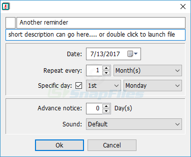 screenshot of Date Reminder