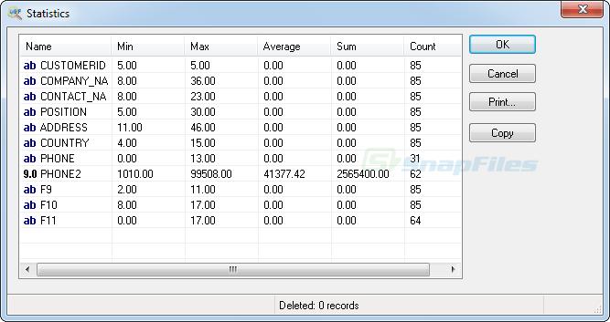 screenshot of DBF Viewer 2000