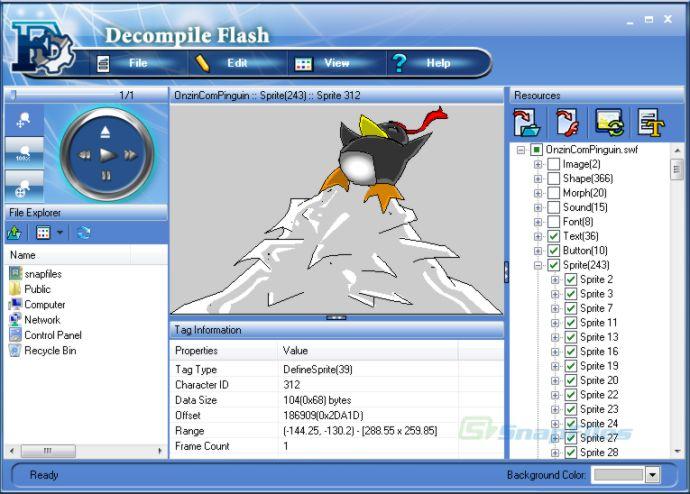 screenshot of Decompile Flash