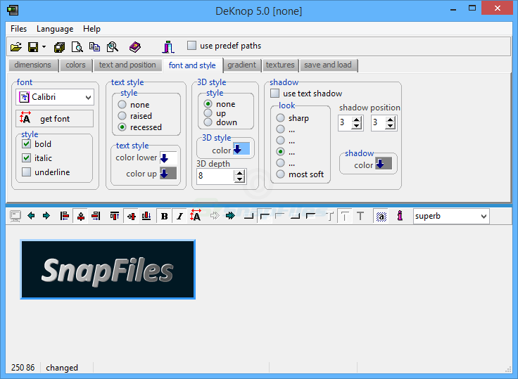 screenshot of DeKnop