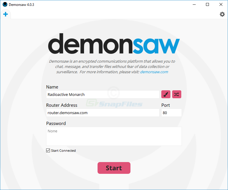 screenshot of Demonsaw