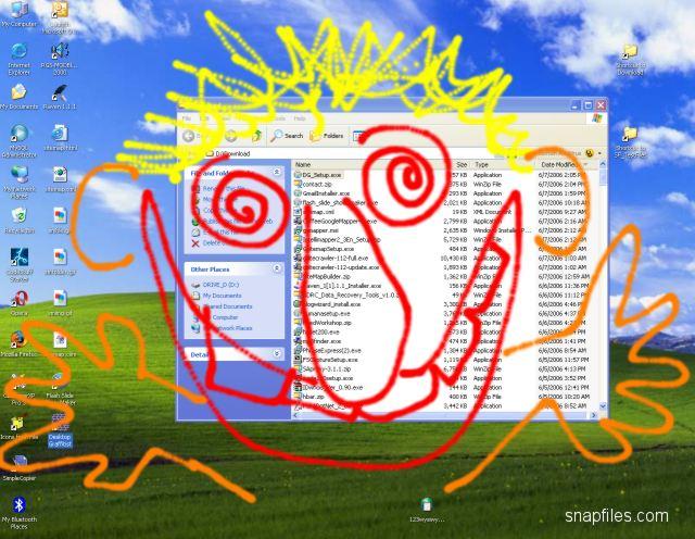 screen capture of Desktop Graffitist