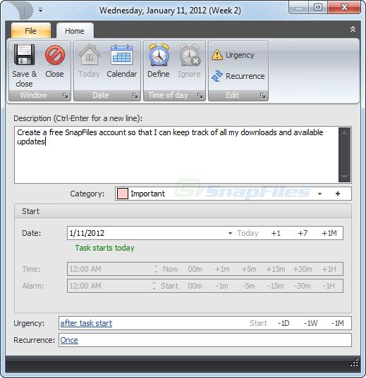 screenshot of Desktop-Reminder