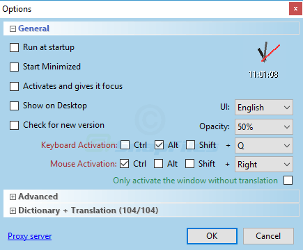 screenshot of Dictionary .NET