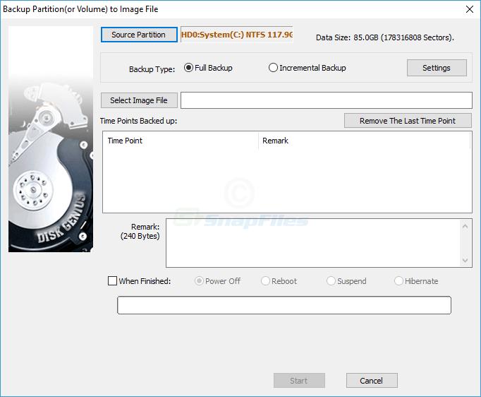 screenshot of DiskGenius