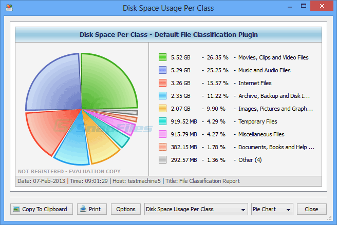 screenshot of DiskSorter Pro