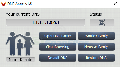 screen capture of DNS Angel