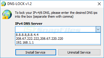 screenshot of Dns Lock