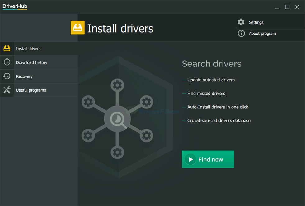 screen capture of DriverHub
