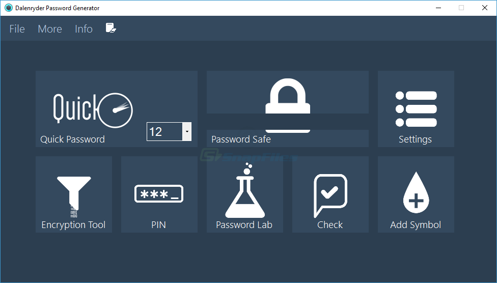 screen capture of Dalenryder Password Generator