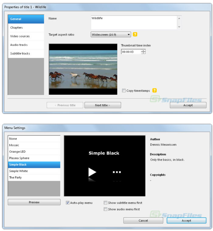screenshot of DVD Flick