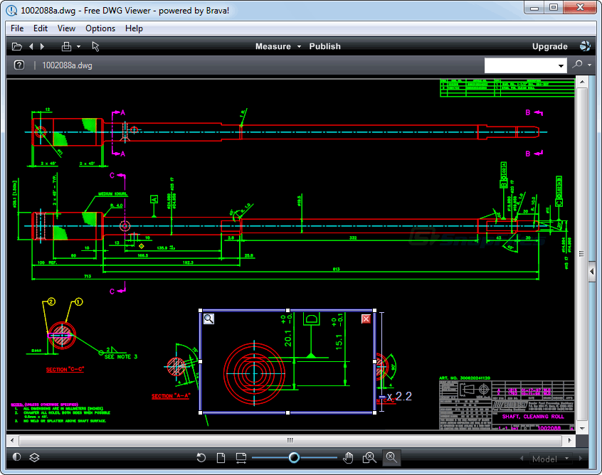 Free dwg viewer brava screenshot and download at Online cad editor
