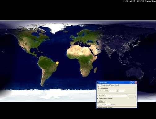 screen capture of EarthWatcher