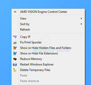 screenshot of Easy Context Menu