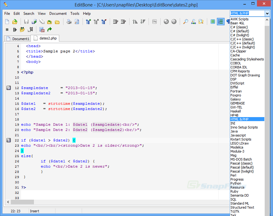 screen capture of Text Editor Pro