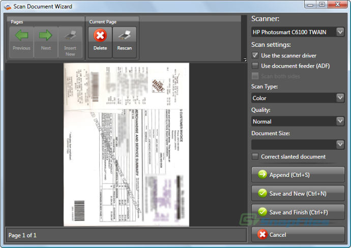 screenshot of eDoc Organizer