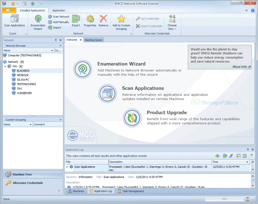 Network Software Screen Shot : Emco network software scanner screenshot and download at