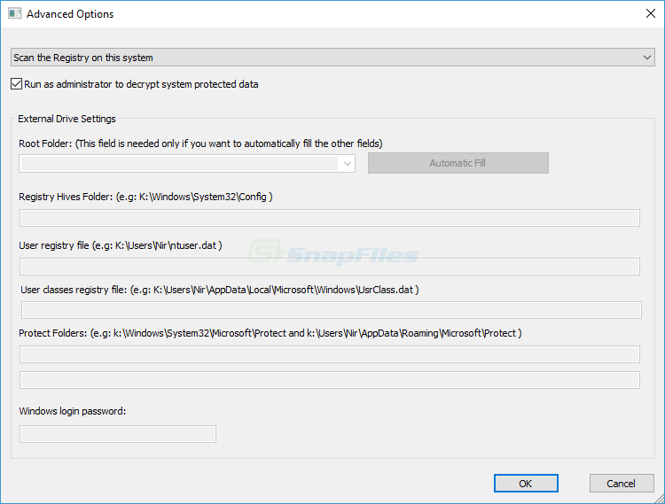 screenshot of EncryptedRegView