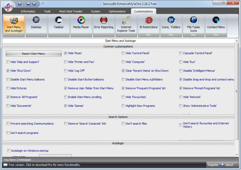 screenshot of EnhanceMySe7en  (Free Version)