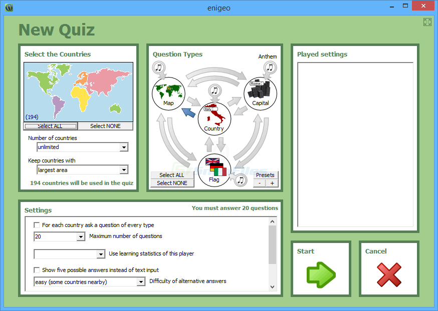 screenshot of enigeo