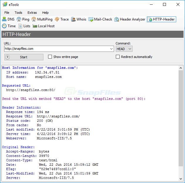 screenshot of eToolz