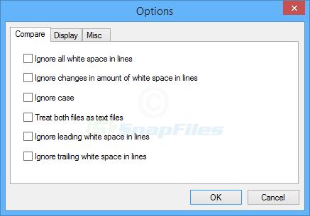 screenshot of ExamDiff