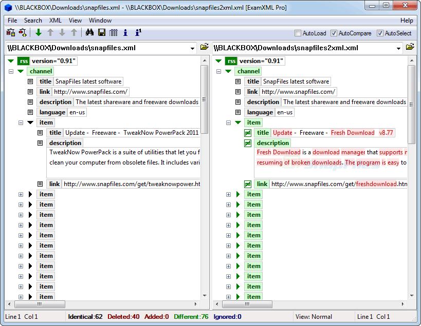 screen capture of ExamXML