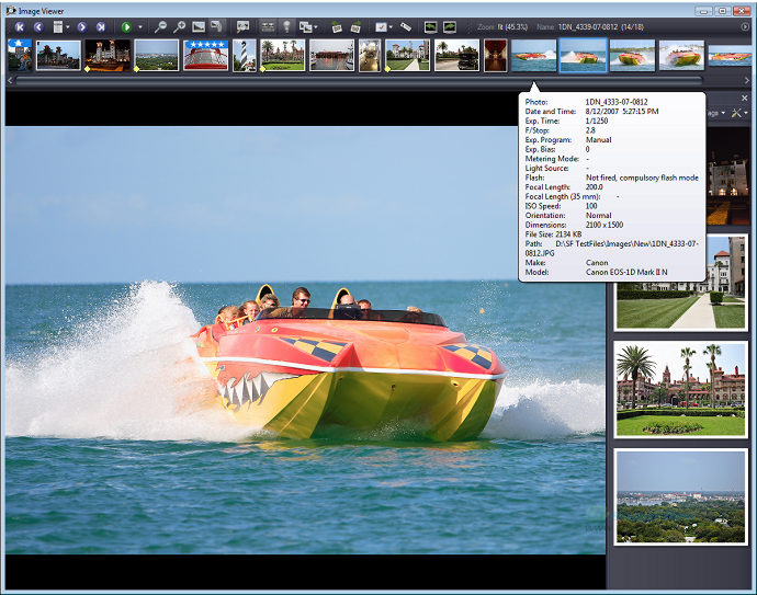 screenshot of ExifPro Image Viewer