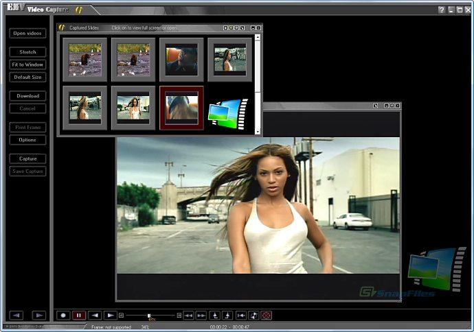 screen capture of EZV Video Capture Pro