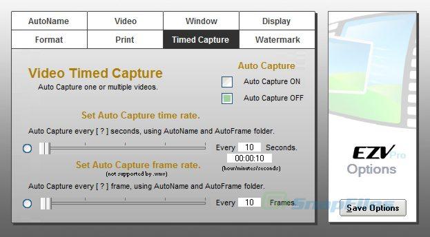 screenshot of EZV Video Capture Pro