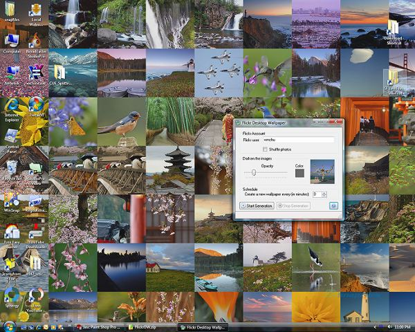 dynamic desktop wallpaper. Flickr Desktop Wallpaper allows you to create a dynamic desktop wallpaper,