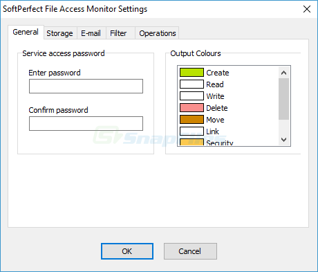 screenshot of SoftPerfect File Access Monitor