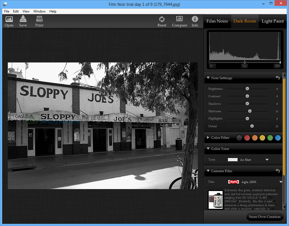 screenshot of Film Noir