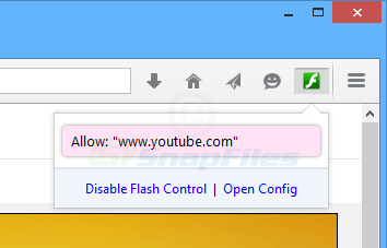 screen capture of Flash Control