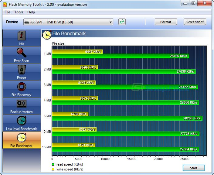 screenshot of Flash Memory Toolkit