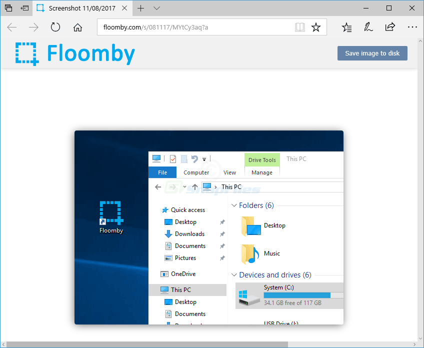 screenshot of Floomby
