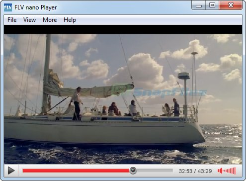 screen capture of FLV Player nano