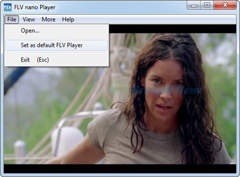 screenshot of FLV Player nano