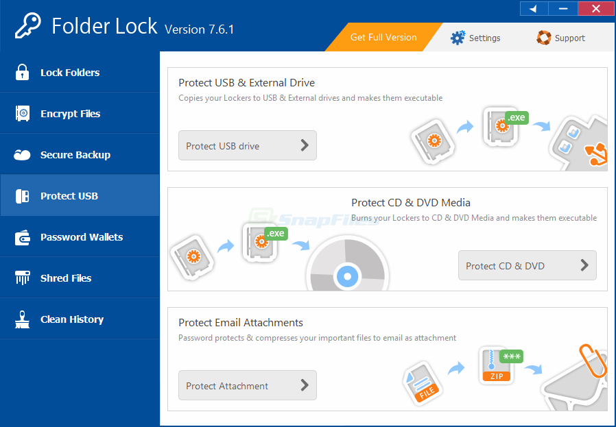 screenshot of Folder Lock