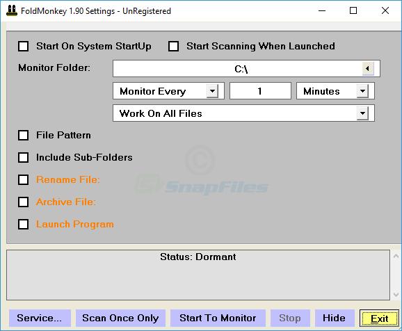 screen capture of FoldMonkey
