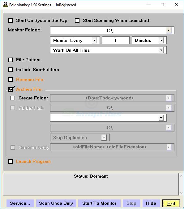 screenshot of FoldMonkey