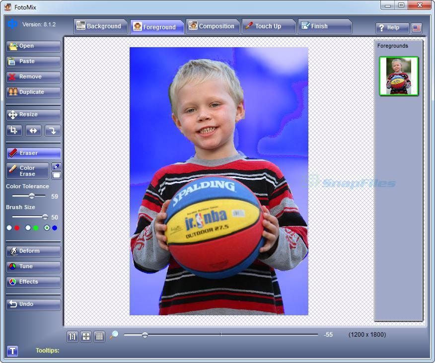 screen capture of FotoMix