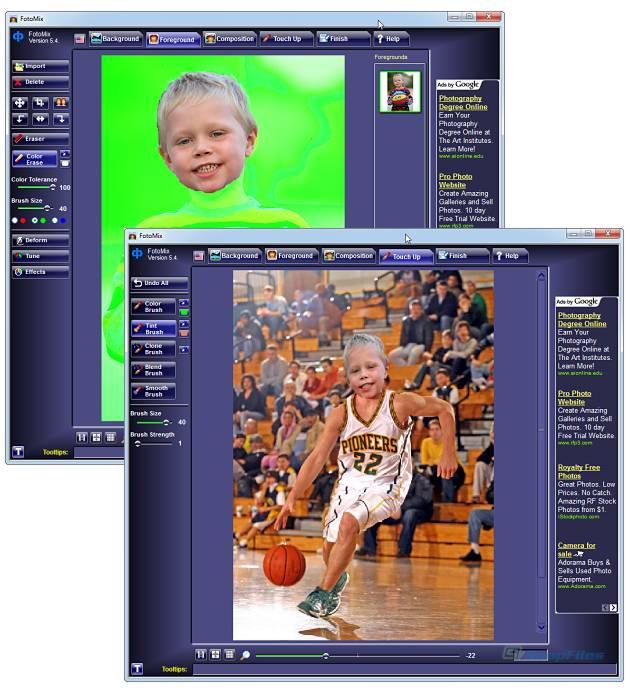 screenshot of FotoMix