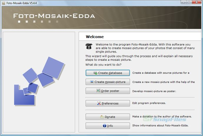screen capture of Foto-Mosaik-Edda