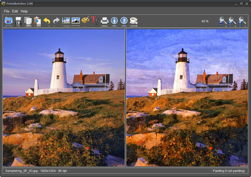 screenshot of FotoSketcher