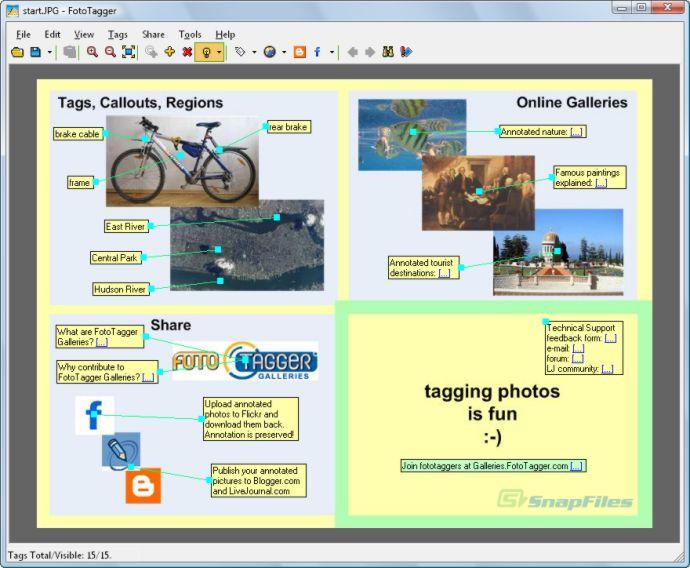 screen capture of FotoTagger