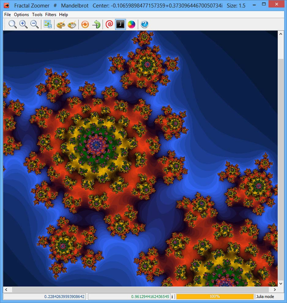 screen capture of Fractal Zoomer