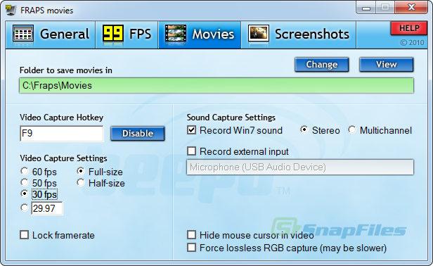screen capture of Fraps