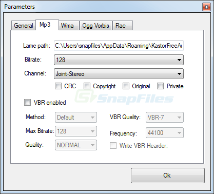 screenshot of Kastor Free Audio Extractor
