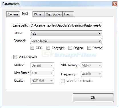 screenshot of Kastor Free Audio Extractor